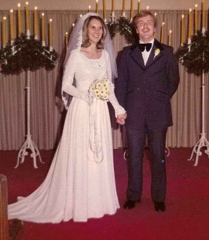 "Kathy McKinney and Stacy Peters were married on Aug. 2, 1975. Kathy wasn't a fan of Stacy's in the beginning. ""I just couldn't stand him,"" she says.