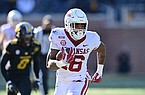 Arkansas receiver Treylon Burks runs with the ball during a game against Missouri on Saturday, Dec. 5, 2020, in Columbia, Mo.