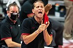 Arkansas coach Eric Musselman yells to his players during a game against Southern on Wednesday, Dec. 9, 2020, in Fayetteville.