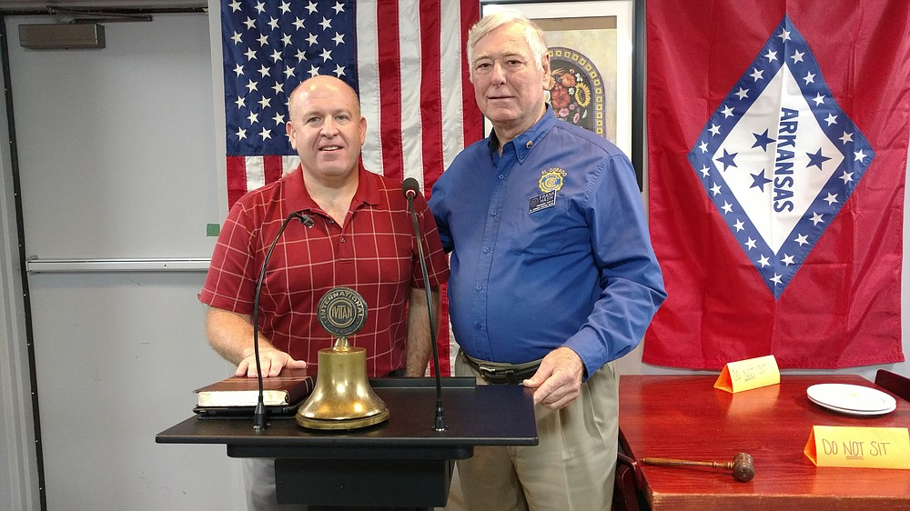 Brother Terry Upchurch, pastor of Ebeneezer Baptist Church, spoke recently at a meeting of the Civitan Club. He's pictured here with Frank Hash, Civitan president.