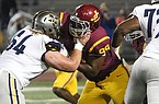 Jones College defensive tackle Jalen Williams (99) is shown during a game against Gulf Coast Community College on Thursday, Nov. 19, 2020, in Perkinston, Miss.
