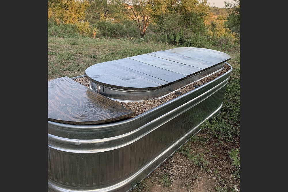 The hot trough has an insulted lid which helps it maintain its temperature 24 hours a day. (Courtesy @houseonthellano/Sara Haddox)