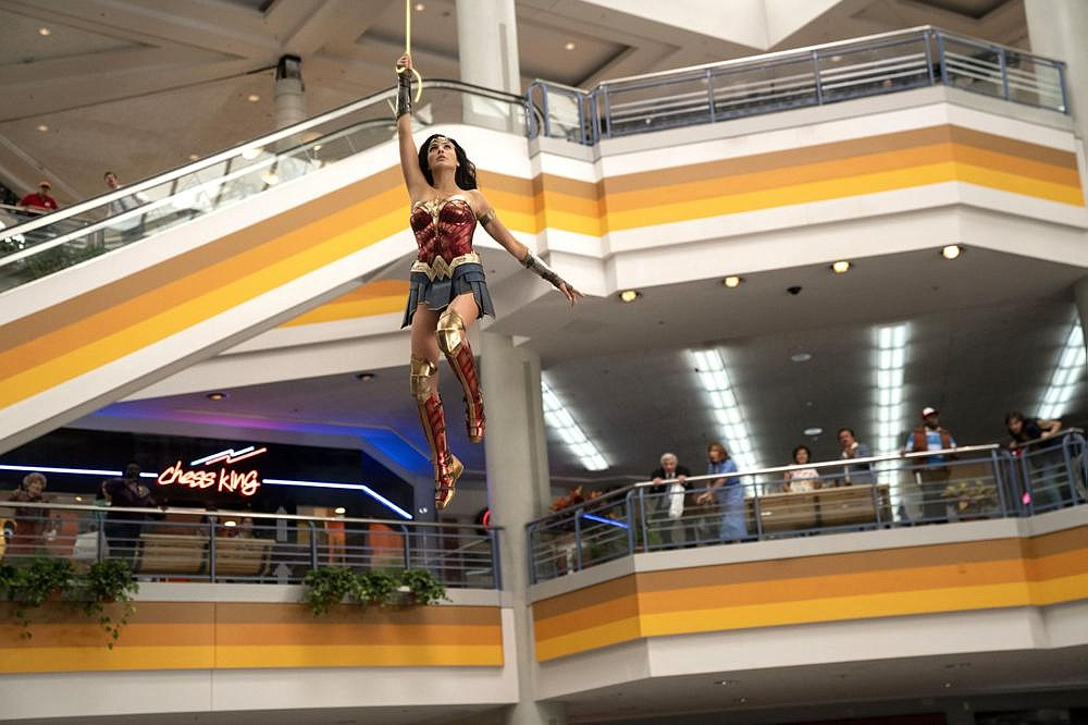 """Remember when shopping malls were all the rage? Diana Prince (Gal Gadot), aka Wonder Woman, visits one in """"Wonder Woman 1984."""""""