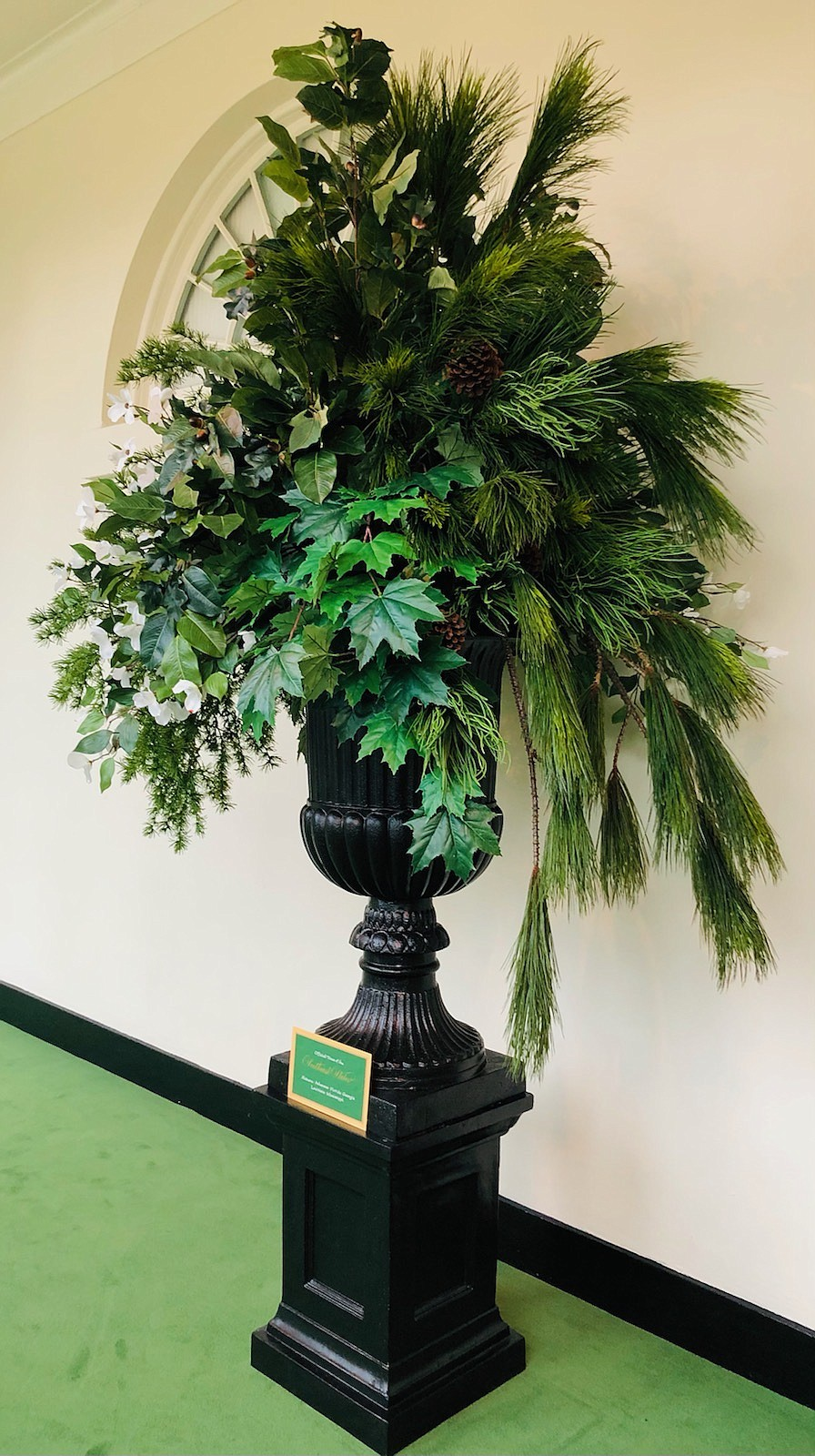 An urn representing Arkansas and other Southeastern states was one of the projects Liz Bullock worked on as a decorator at the White House. (Contributed)