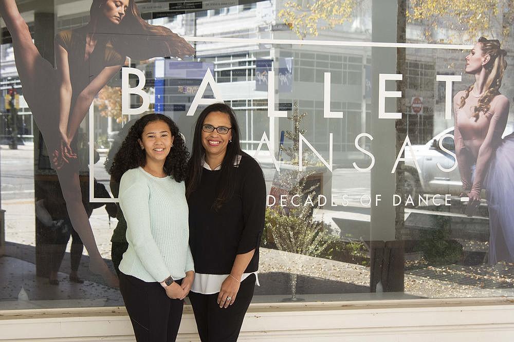 Bridgette Frazier credits the dedication of her daughter Ava to dance for inspiring her to join the Ballet Arkansas board. (Arkansas Democrat-Gazette/Cary Jenkins)