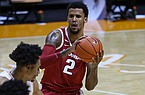 Arkansas forward Vance Jackson (2) is shown during a game against Tennessee on Wednesday, Jan. 6, 2021, in Knoxville, Tenn. (Randy Sartin/USA TODAY Sports via AP, Pool)