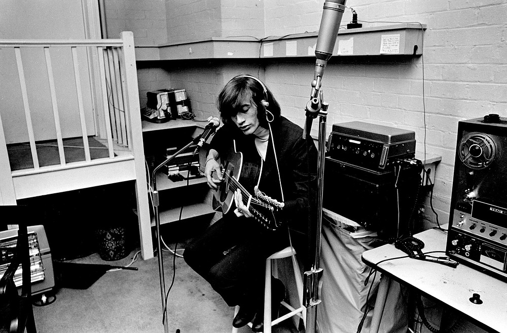 Robin Gibb, of Bee Gees fame, plays his 12-string in 1969 during his brief solo career. (Special to the Democrat-Gazette/HBO)
