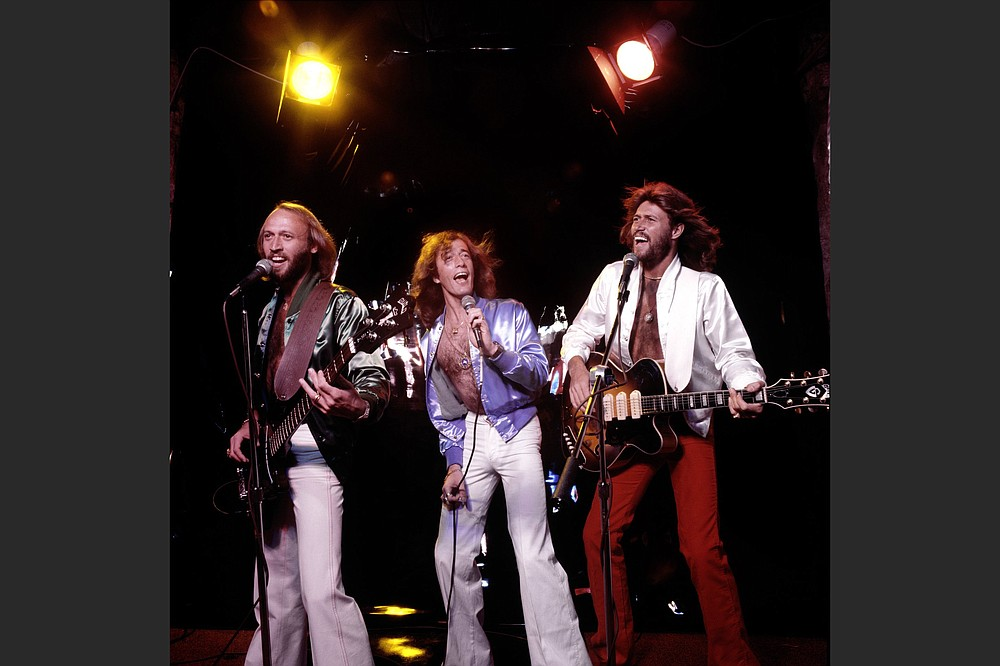 The Bee Gees — brothers Maurice, Robin and Barry Gibb — perform in 1979. (Special to the Democrat-Gazette/HBO)