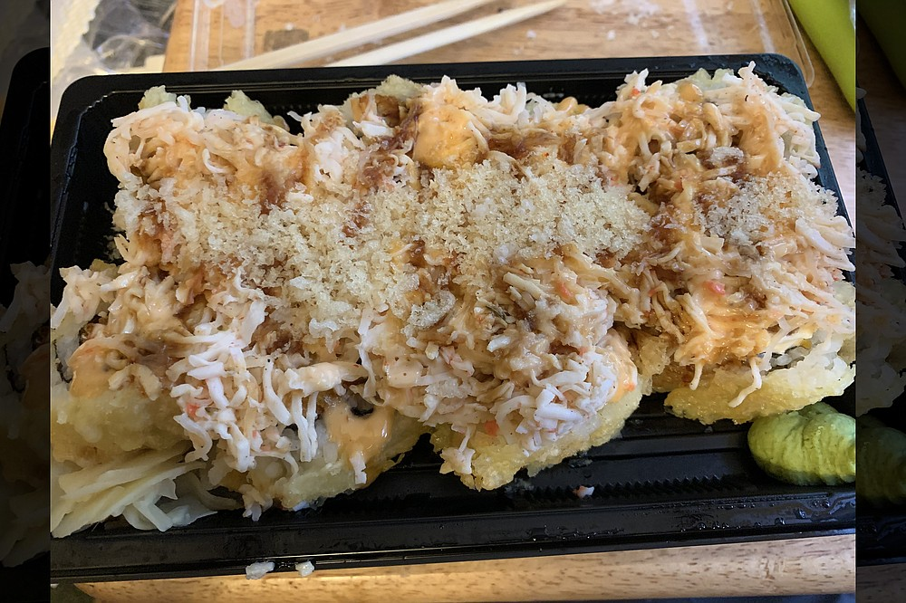 Rock N Roll Sushi, with outlets now on Chenal Parkway and on Main Street downtown, offers rock-themed menu items, including the Thriller Roll. (Democrat-Gazette file photo/Eric E. Harrison)
