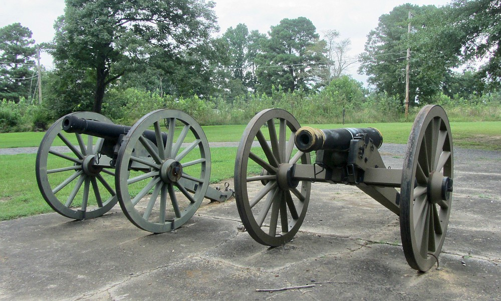 Replica cannon can be seen on the Civil War Trails' Little Rock campaign route. (Special to the Democrat-Gazette/Marcia Schnedler)