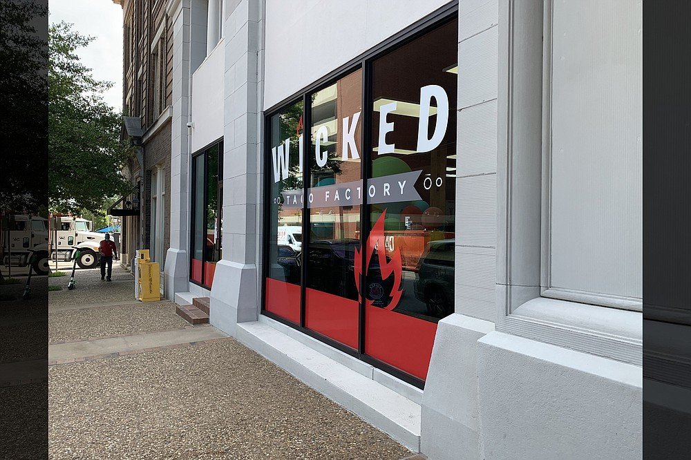 Wicked Taco Factory opened in September on West Second Street. (Democrat-Gazette file photo/Eric E. Harrison)