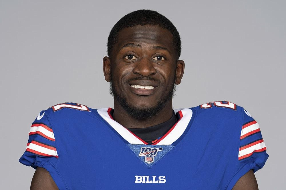 This is a photo of Tre'Davious White of the Buffalo Bills NFL football team.   (AP Photo)