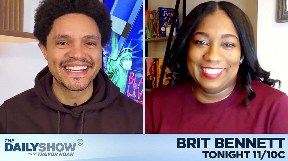 "Brit Bennett appeared on ""The Daily Show With Trevor Noah"" as part of her virtual book tour. (The Daily Show)"