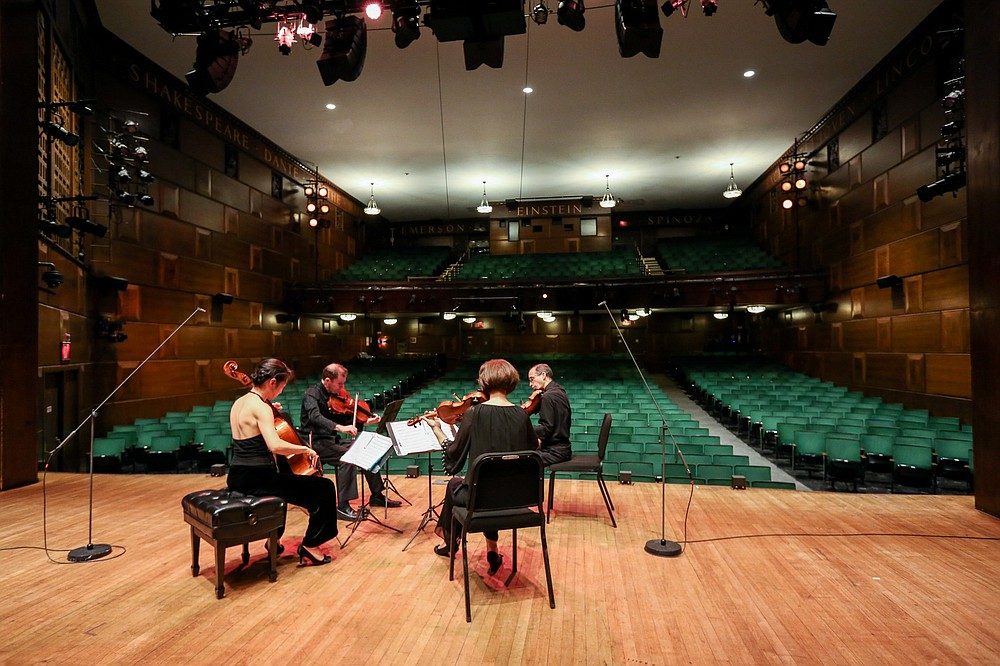 92nd Street Y aired a performance of the Brentano String Quartet in October. While there was no one in the venue, plenty of people watched at home. (Michael Priest Photography)