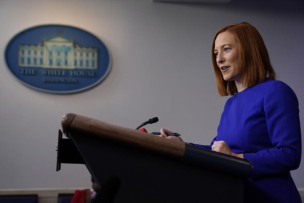 New White House press secretary Jen Psaki holds her first news conference Wednesday at the White House. (AP/Evan Vucci)