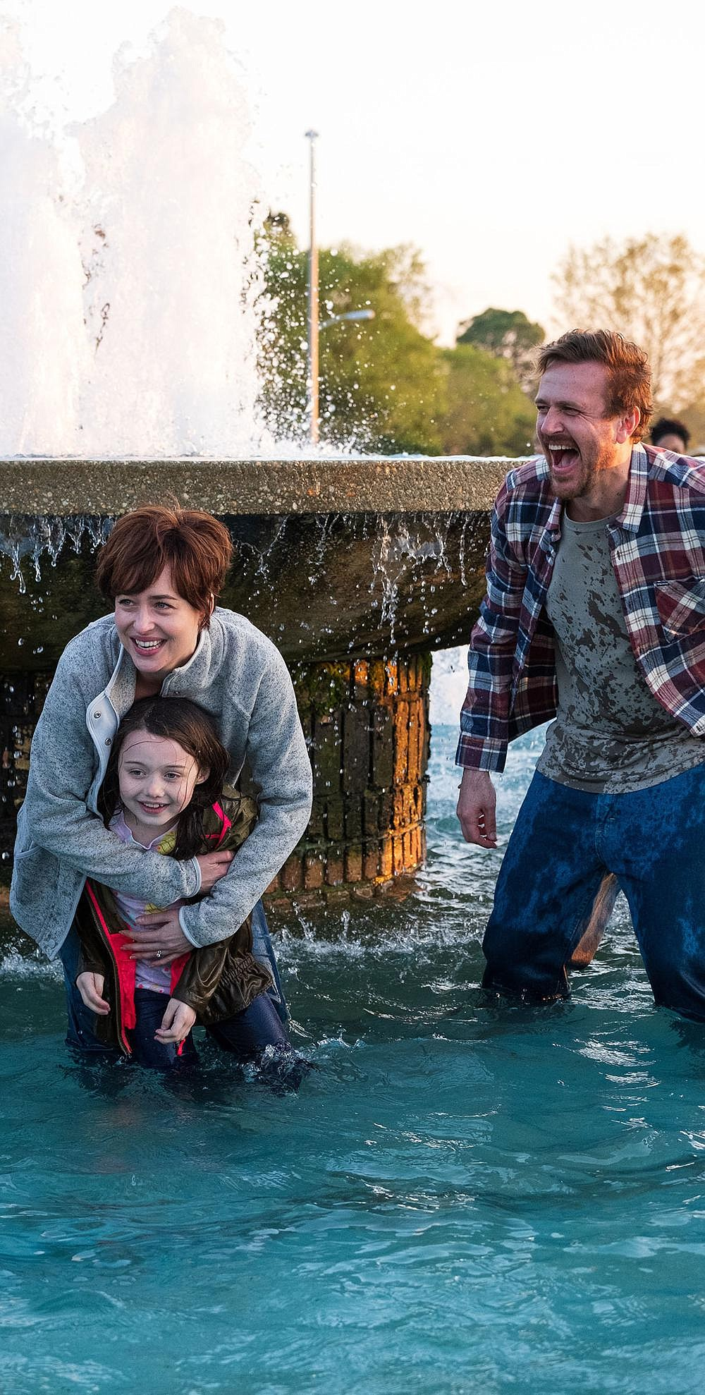"Tragedy strikes a young family when Nicole Teague (Dakota Johnson), mother to Evie (Violent McGraw) and good friend to Dan (Jason Segel) is diagnosed with stomach cancer in the based-on-a-true-story ""Our Friend."""