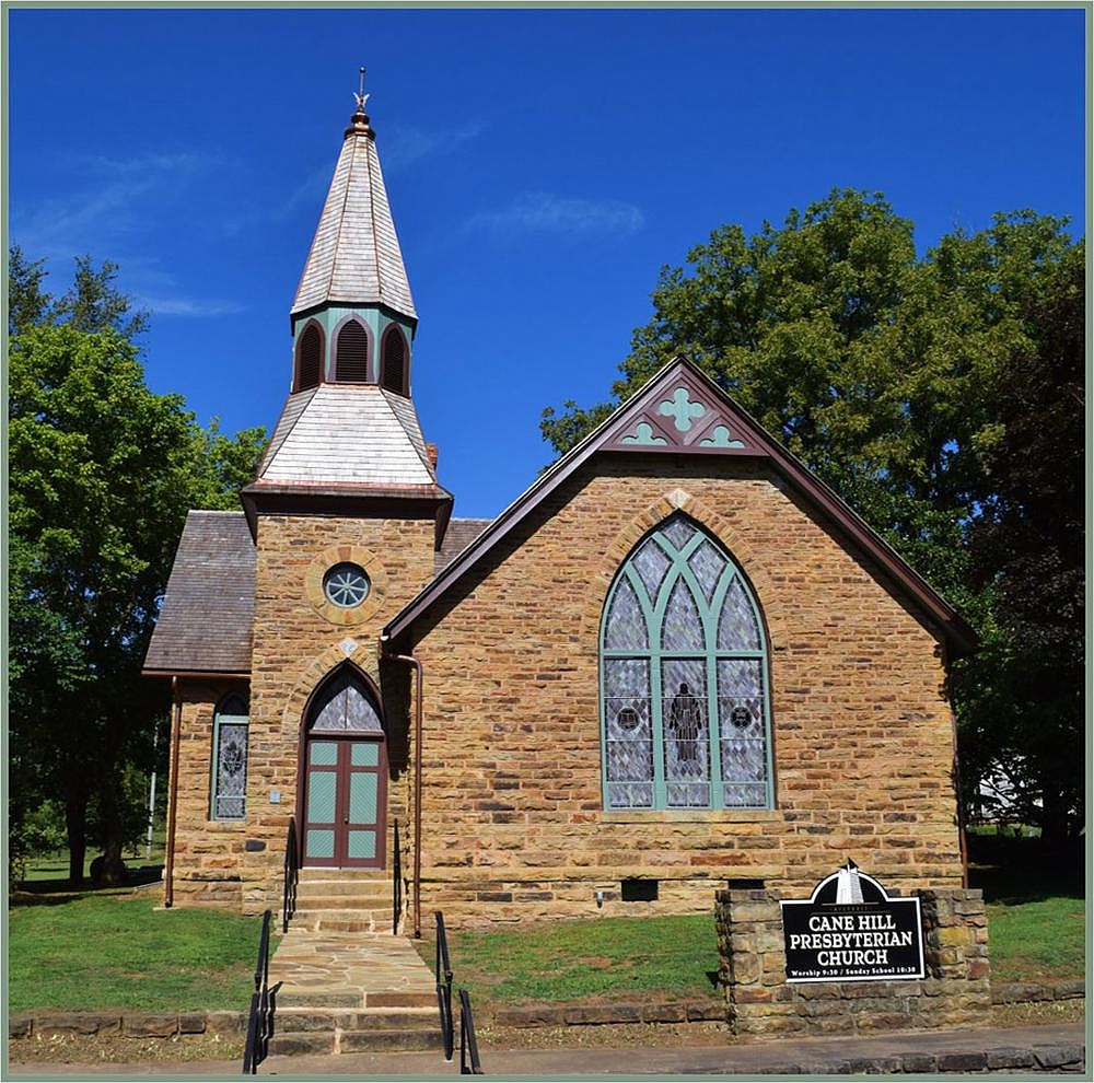 Cane Hill Presbyterian Church, built in 1891, is the Washington County community's last functioning house of worship. (Special to the Democrat-Gazette/Preserve Arkansas)