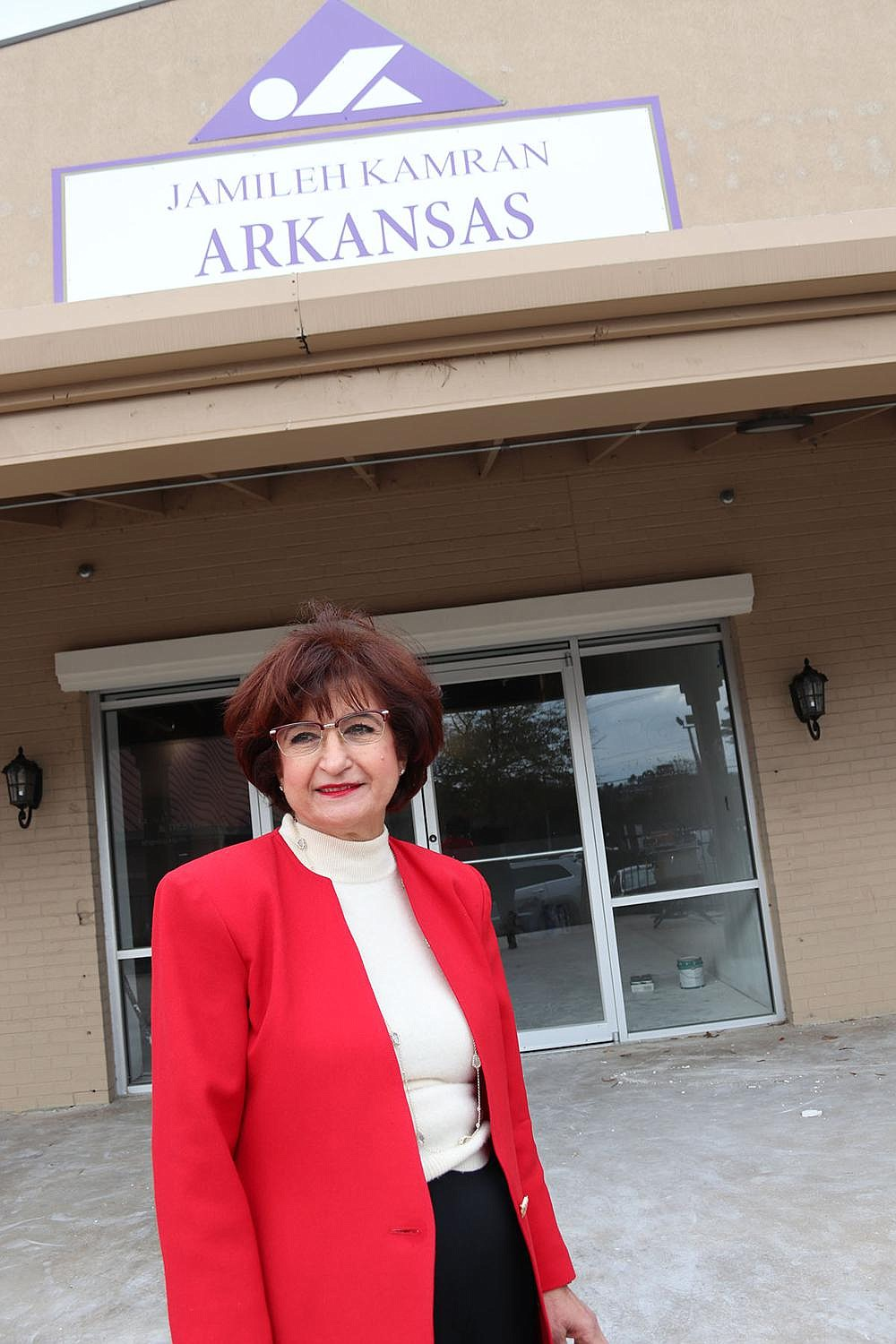 Jamileh Kamran shows off the new space for Arkansas Fashion School. The school is moving from its old location on Kavanaugh Boulevard, where for years Kamran ran her design studio and retail shop.