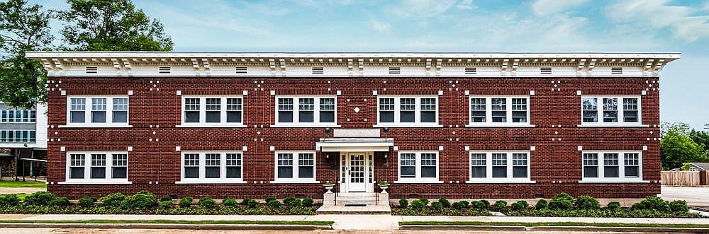 The El Dorado Apartments, constructed in 1926, were rehabilitated with the help of federal and state tax credits. (Special to the Democrat-Gazette/Preserve Arkansas)