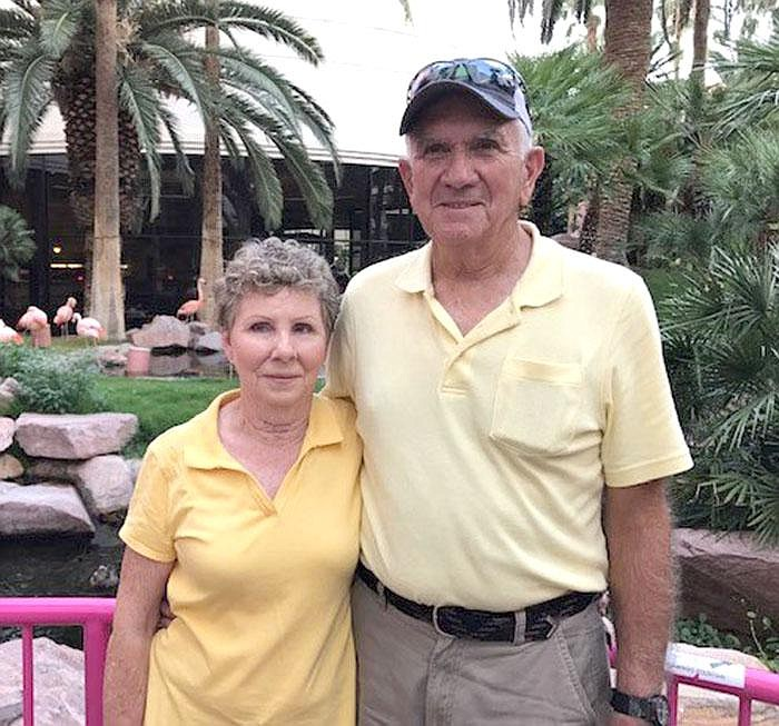 """Barbara and Robert McCarley will celebrate their 60th anniversary this summer. They were 17 and 19 when they married. """"We were so young. Everybody said it's not ever gonna work,"""" Barbara says. """"We've had our ups and downs like everybody else, but we're still here."""" (Special to the Democrat-Gazette)"""