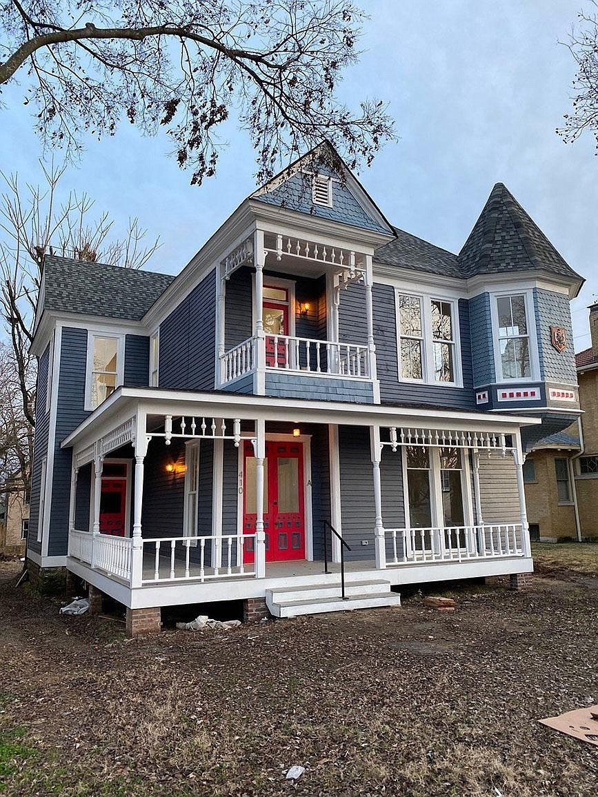 This home in the Belle Grove Historic District is one of several renovated or constructed by Justin Skinner of Fort Smith. (Special to the Democrat-Gazette/Preserve Arkansas)
