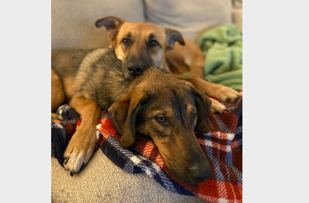 Bud and his sister, Stella.