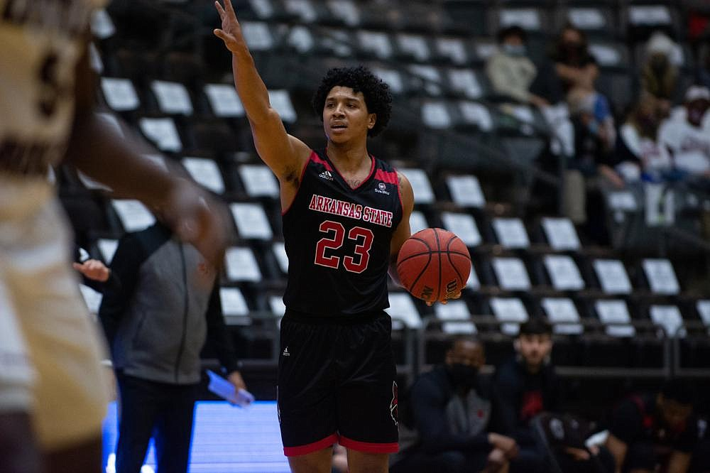 Arkansas State guard Marquis Eaton scored 23 points on 8-of-14 shooting to lead the Red Wolves to a 67-65 victory over UALR on Saturday at the Jack Stephens Center in Little Rock.