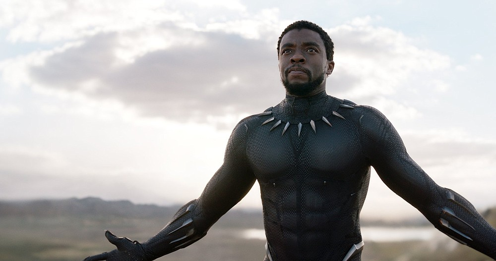 """Chadwick Boseman plays T'Challa, King of Wakanda and the holder of the Black Panther mantle. Boseman also wrote a hip-hop poem-turned-play, """"Deep Azure,"""" about a Black woman whose fiance is killed by a Black police officer. (Courtesy of Marvel Studios)"""