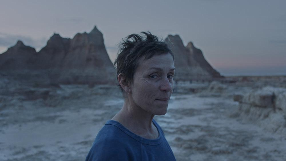 "Fern (Frances McDormand) is a 60-year-old woman driven by loss and grief to wander the American West in ""Nomadland,"" a film that captures the viral anxiety of the present moment."