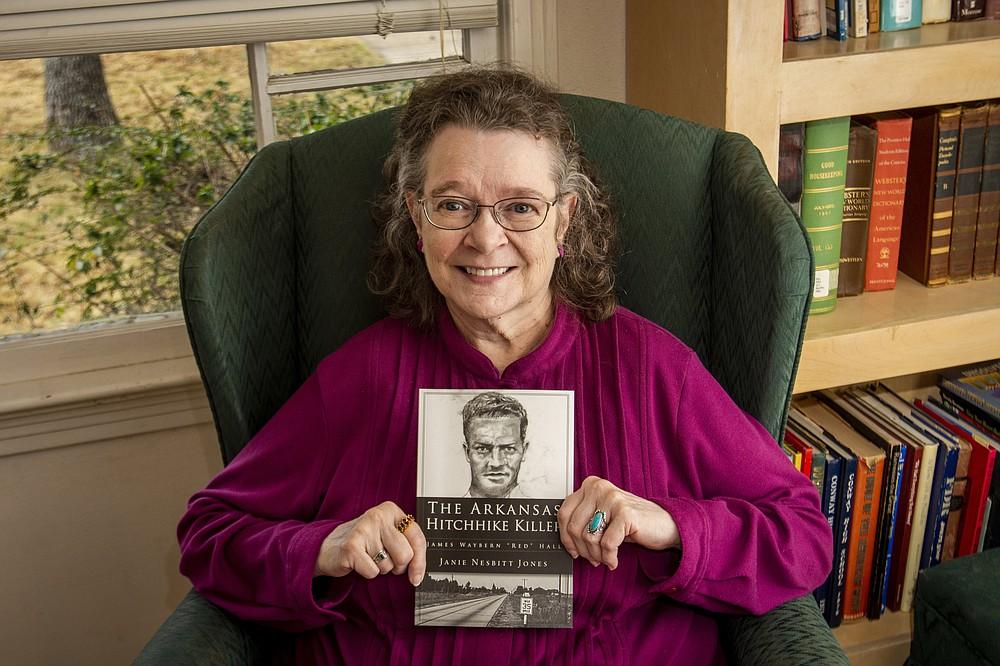 "Conway author Janie Nesbitt Jones has written the true-crime book, ""The Arkansas Hitchhike Killer: James Waybern 'Red' Hall,"" which will be released Monday. (Arkansas Democrat-Gazette/Cary Jenkins)"