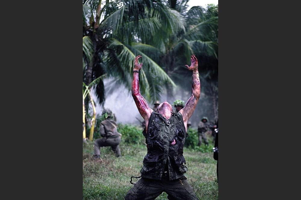 """Sgt. Elias (Willem Dafoe) dies in the film """"Platoon."""""""