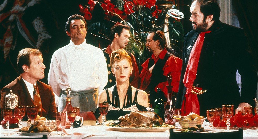 """Alan Howard, Richard Bohringer, Helen Mirren and Michael Gambon star in """"The Cook, the Thief, His Wife & Her Lover."""""""