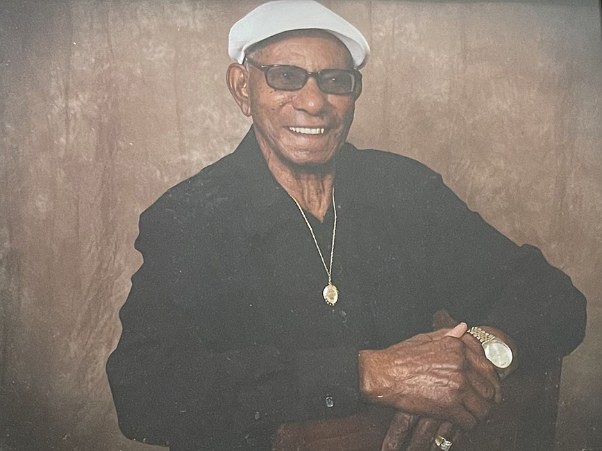 """Chester Hood will celebrate his 100th birthday on April 21. Despite the struggles he has had throughout his lifetime, he insists, """"There's no use in complaining if there's nothing you can do about it. Whatever people do for you, you should appreciate it."""" (Special to the Democrat-Gazette)"""