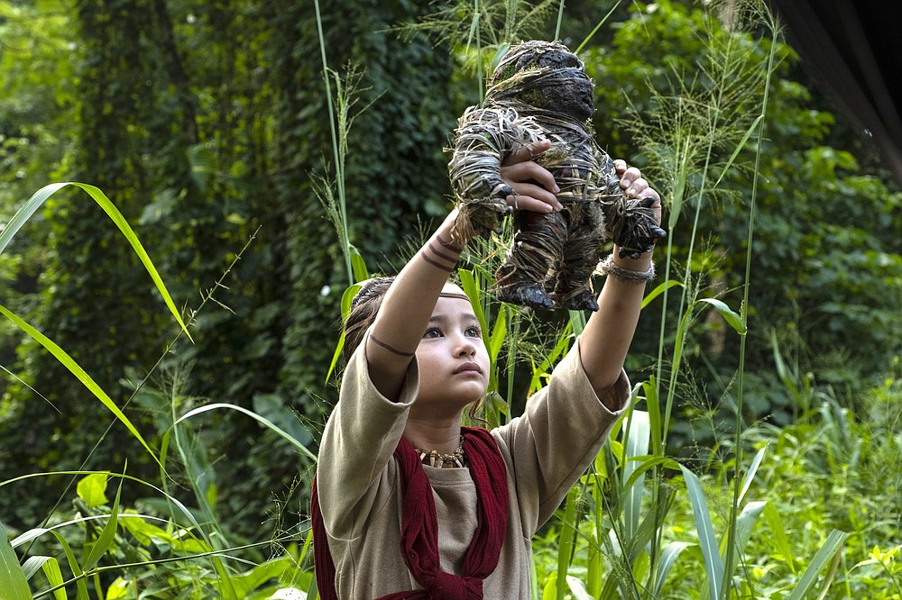 """In """"Godzilla vs. Kong,"""" Jia (Kaylee Hottle) is a deaf orphan, a member of the Iwi tribe on Skull Island, with whom the giant ape Kong has a special bond — the two communicate via American Sign Language."""