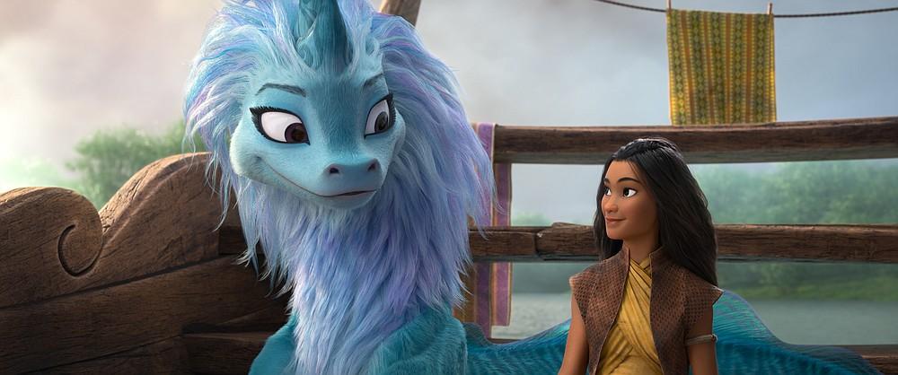 Sisu, naga terakhir dari Kumandra, dan Raya, dari film Disney