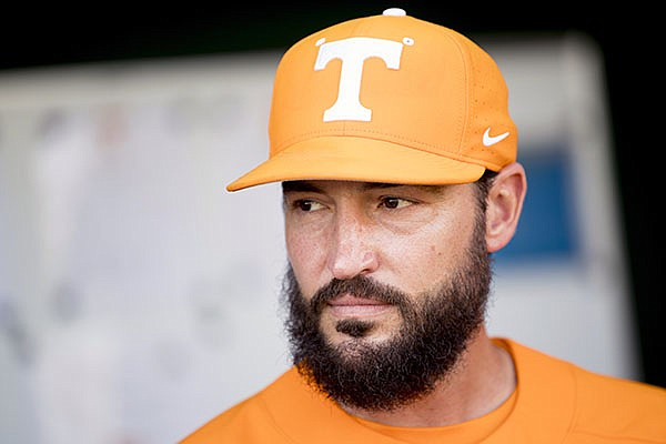 Tennessee baseball coach Tony Vitello is shown before a game in Knoxville, Tenn., in this Tuesday, April 9, 2019, file photo. (Calvin Mattheis/Knoxville News Sentinel via AP, File)
