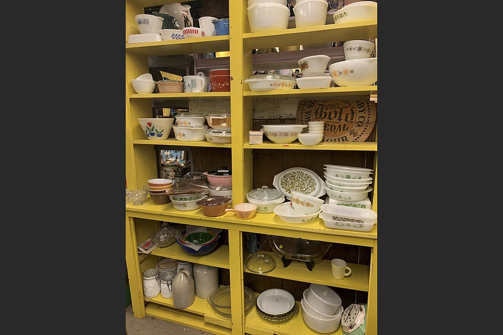 "This image shows one area of vintage dishes for sale at ""Downstairs at Felton Antiques"" in Waltham, Massachusetts. Some collectors buy vintage dishware to try to re-sell it at a profit, while others are in it for nostalgia. (Tracee Herbaugh via AP)"