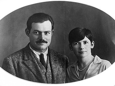 Ernest Hemingway and Pauline Pfeiffer pose for a wedding day photo May 10, 1927, in Paris. (AP/Hemingway Collection, John F. Kennedy Library)