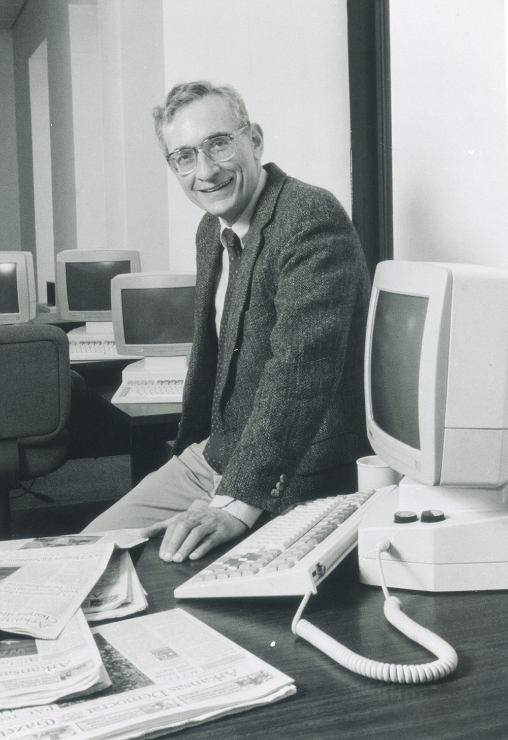Paul Greenberg said his first job away from college was with the Pine Bluff Commercial. Hired in 1962 at age 25, he said he thought he would spend a year at the job. He stayed on for decades, winning the Pulitzer Prize in 1969 for editorials about civil rights. (Democrat-Gazette file photo)