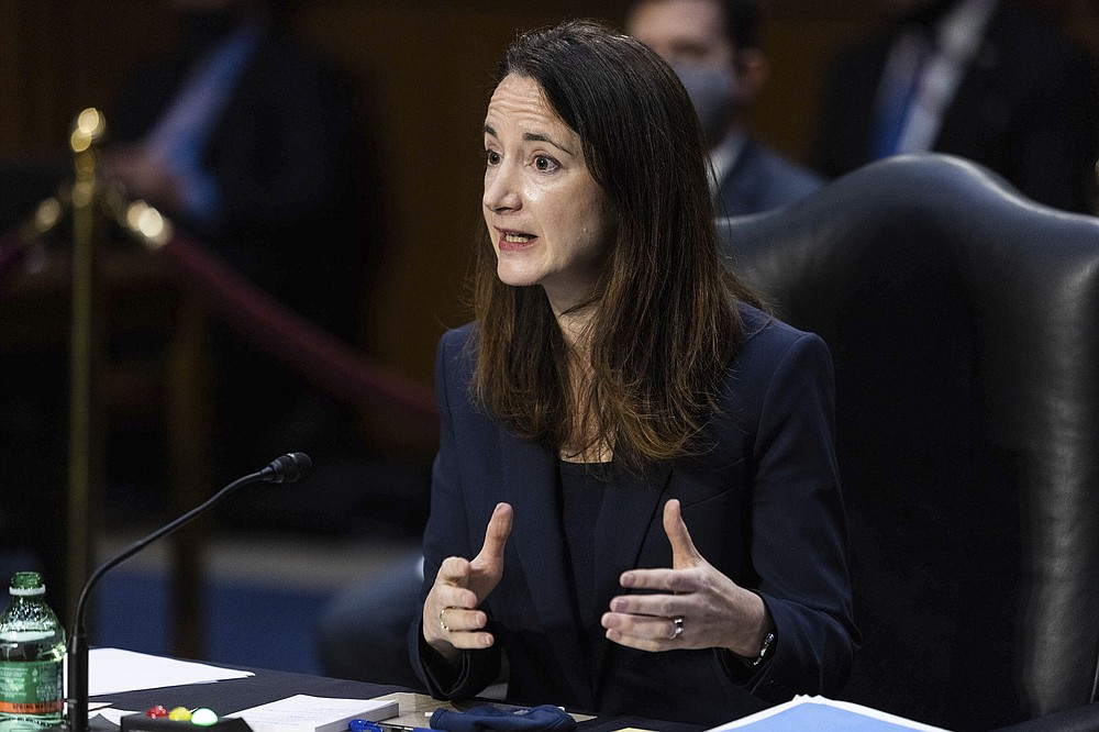 Director Avril Haines of the Office of the Director of National Intelligence (ODNI) testifies during a Senate Select Committee on Intelligence hearing about worldwide threats, on Capitol Hill in Washington, Wednesday, April 14, 2021. (Graeme Jennings/Pool via AP)