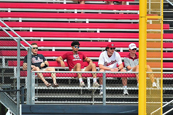 South Carolina fans are shown during a game against Missouri in April 2021. (Photo via SEC pool)