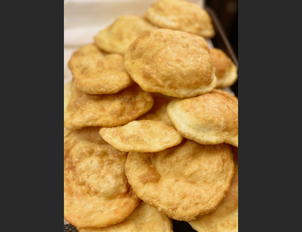 Sopaipillas fresh from the fryer (Arkansas Democrat-Gazette/Kelly Brant)