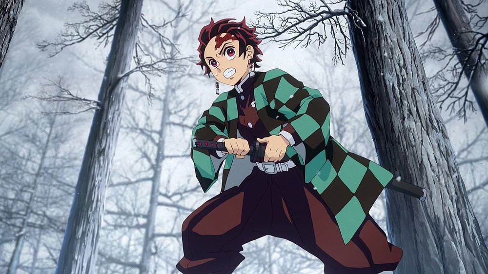 """Demon Slayer the Movie: Mugen Train,"" is the most successful film of all time in Japan. This is 13-year-old Tanjiro Kamado (voiced by Zach Aguilar), who is on a quest to restore the humanity of his sister, who was turned into a demon in an attack that wiped out the rest of his family."