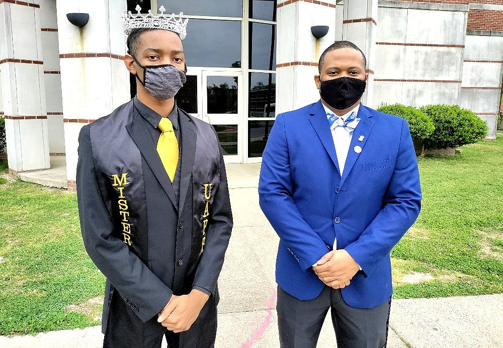 Javonte Gonzalez, Mr. UAPB, and fellow senior Joshua Hargrove offered differing views on the signficance of the conviction in Minneapolis.  (Pine Bluff Commercial/I.C. Murrell)