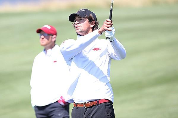 Arkansas' Segundo Oliva Pinto won the individual title at the 2021 SEC Men's Golf Championships. (Photo courtesy Arkansas Athletics)