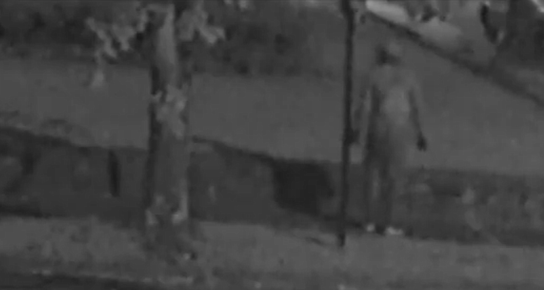 This screenshot of video provided by the Little Rock Police Department shows a man suspected in four separate stabbings.