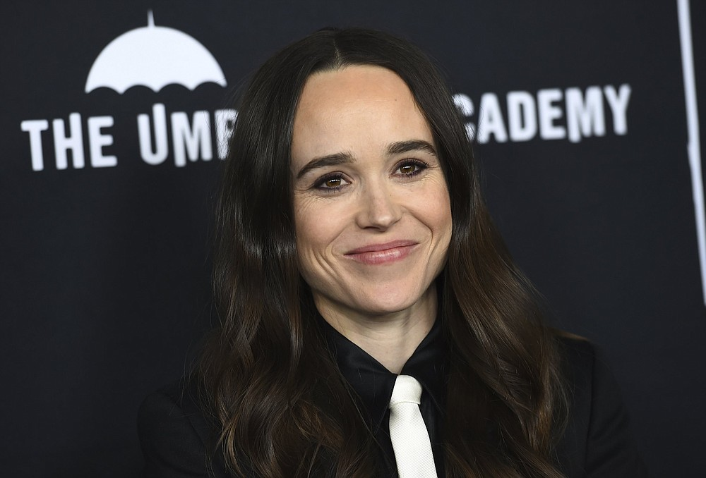 """Elliot Page arrives at the Los Angeles premiere of """"The Umbrella Academy"""" on Feb. 12, 2019.  (Photo by Jordan Strauss/Invision/AP, File)"""
