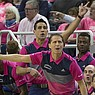 Nevada head coach Eric Musselman (front) and assistant coach Gus Argenal work the sidelines against Colorado State in the first half of an NCAA college basketball game in Reno, Nev., Wednesday, Jan. 23, 2019. (AP Photo/Tom R. Smedes)