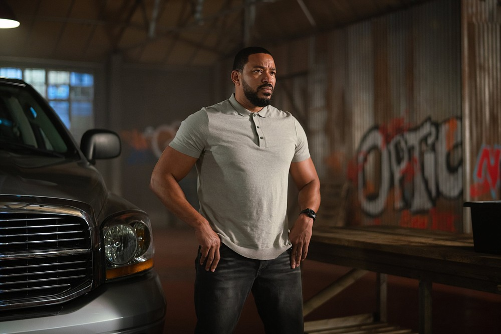 """Carlos (Laz Alonso), from the """"Fast and the Furious"""" universe, is one of the heavies in Guy Ritchie's latest mad lad heist film """"Wrath of Man."""""""