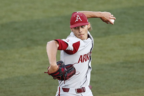 Arkansas pitcher Caden Monke throws during a game against Tennessee on Friday, May 14, 2021, in Knoxville, Tenn. (Photo courtesy Tennessee Athletics)
